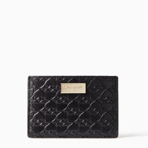 kate spade | Embossed Leather Card Case